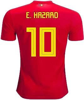 AdriK Hazard #10 Belgium 2018 World Cup Men's Jerseys