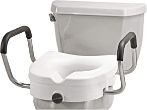 NOVA Medical Products Elevated Raised Toilet Seat with Removable, Adjustable Padded Arms,..