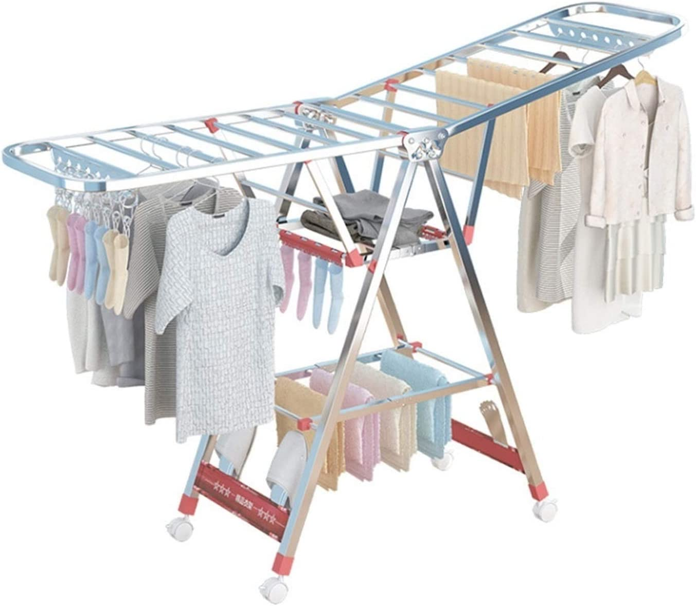 XIAOQIU Clothes Drying Rack for Laundry 3 Airer Max 85% OFF Tier online shopping
