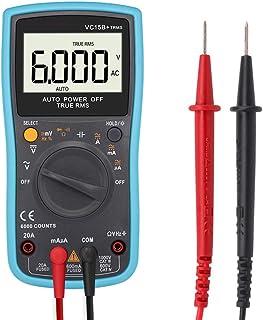 UKCOCO Multímetro digital, 6000 cuentas Detector de tensión de rango automático de alta precisión Voltaje
