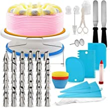 106pcs Multi-function Cake Decorating Kit Cake Turntable Set Pastry Tube Fondant Tool Kitchen Dessert Baking