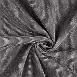 Cord Uni – grau — Meterware ab 0,5m — zum Nähen von