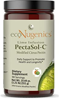 ecoNugenics – Lime Infusion -C Modified Citrus Pectin – 551.29 Grams – Professionally Formulated to Help Maintain Healthy Galectin-3 Levels – Supports Cellular & Immune System Health