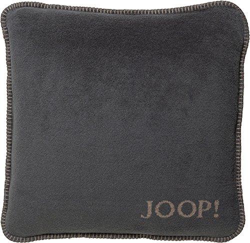 JOOP! Uni-Doubleface Kissen Anthrazit-Taupe 651129 mit Füllung 50x50 cm