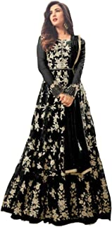 Aaru Fashion Women's Net Long Anarkali Gown with Dupatta (af-1145 ; Free Size)