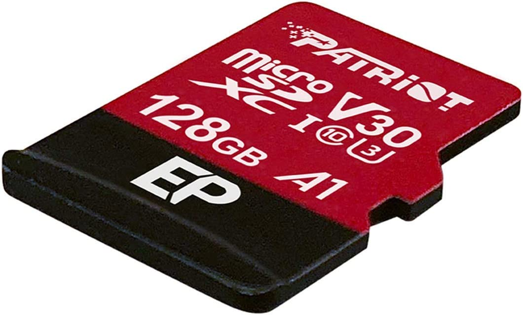 Patriot 128GB A1 / V30 Micro SD Card for Android Phones and Tablets, 4K Video Recording - PEF128GEP31MCX