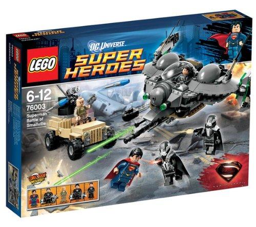 LEGO 76003 76003 Super Heroes DC Universe, Superman: Schlacht von Smallville Superman kämpft um Smalville. Mit 5 kleinen Figuren Superman, Oberst Hardy, General Zod, Faora und Tor-An.