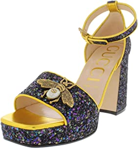 58797f539d7 Gucci Womens Soko Bee Sandal Embellished Platform Dress Sandals