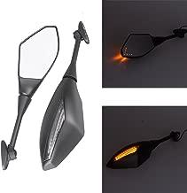 LED Turn Signal Light Rear View Mirrors For Honda CBR600RR 2003-2008 CBR1000RR 2004-2008 (Matte Black)