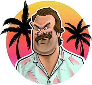 Stranger Things Jim Hopper Season 3 Decal - for Cars, Laptops, and More! - Use Inside or Outside - Sicks to Any Flat Smooth Surface