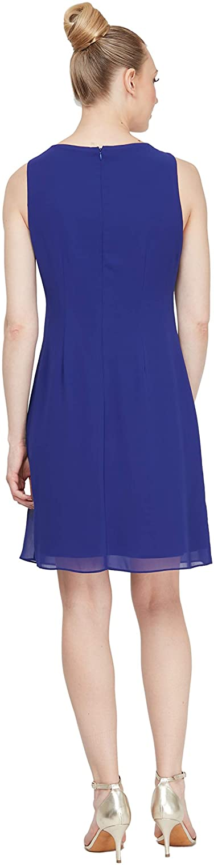 S.L. Fashions Women's Chiffon Tier Jacket Dress with Bead Neck