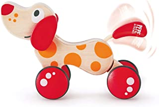 Hape E0347B Walk-A-Long Puppy Wooden Pull Toy | Award Winning Push Pull Toy Puppy For Toddlers Can Sit, Stand and Roll. Ru...