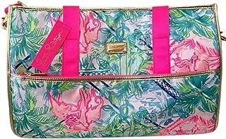 LILLY PULITZER Convertible Weekender Garment Bag Carry On Duffel Multi Bohemian Queen
