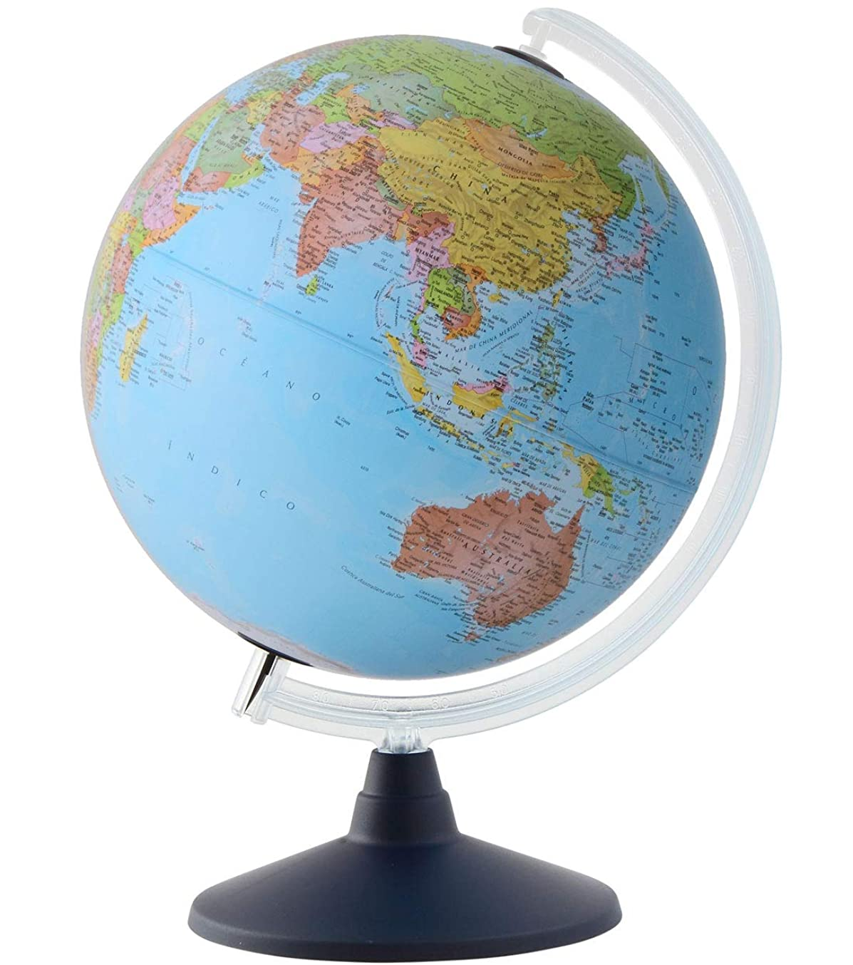 用量メーター農業のORBYS 地球儀 英語版 カラーラ7型 球径30cm 行政図 43631