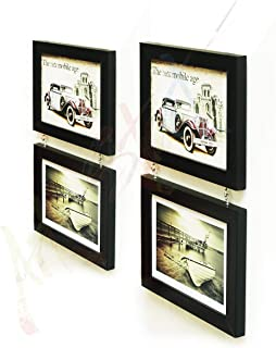 Fascinating Drop Frame - Set of 4 Black Frame (4X6)