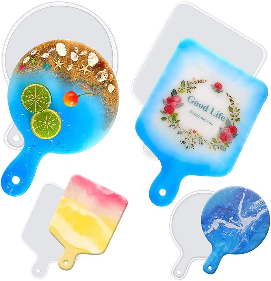 4 Pack Shipping included Max 61% OFF Resin Silicone Molds Great Tray Serving DIY