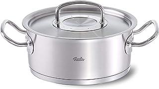 Fissler original-profi collection / Rustidera de acero inoxidable (4,6 litros, Ø24cm), con tapadera, apta para cocinas de inducción, gas, vitrocerámica y eléctricas