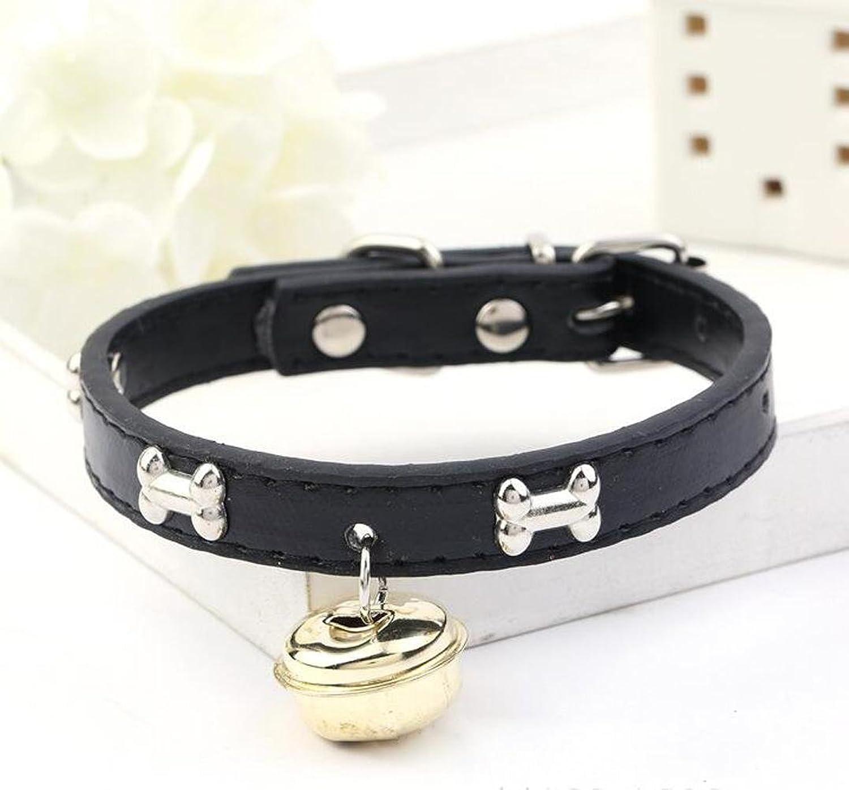 DU&HL Adjustable Dog Collar, Alloy Bells Pet Collar