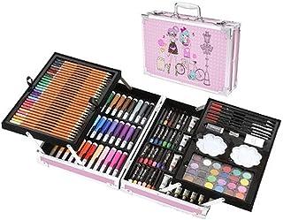 Art Set 145 Pcs Supplies Kit in Portable Case Painting Set for Kids Adults Pencil Markers Paints Oil Pastels Watercolor Ca...