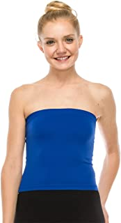 Kurve Medium Length Bandeau Tube Bra Strapless Top - UV Protective Fabric UPF 50+ (Made with Love in The USA)