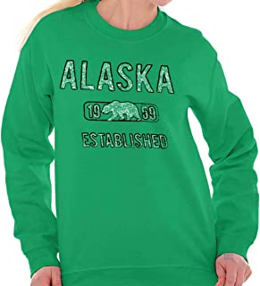 Alaska Polar Bear Vintage Gym Workout AK Crewneck Sweatshirt