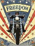 RKO Vintage Garage Freedom Cruiser Moto Motorcycle-Parent - 9 x 6.5 cm (Magnet)