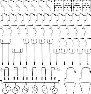 有孔ボード パンチングボード 有孔ボードフック 専用 T型 フック 升级版 メッシュフック 穴 ピッチ ボードフック パンチングボードフック 吊り下げラック 固定 止め 金具 商品展示 ディスプレ スチール製 穴ピッチ25mm 53個セット