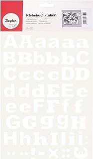 RAYHER - 38920000 - adhesiva y letras pequeñas, 3 cm, DIN A4, autoadhesivas, SB-BTL 3Blatt , color blanco
