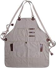 Cool&D Werkschort gereedschapsschort van gecoat canvas waterdicht vintage schort voor keuken, café, tuin