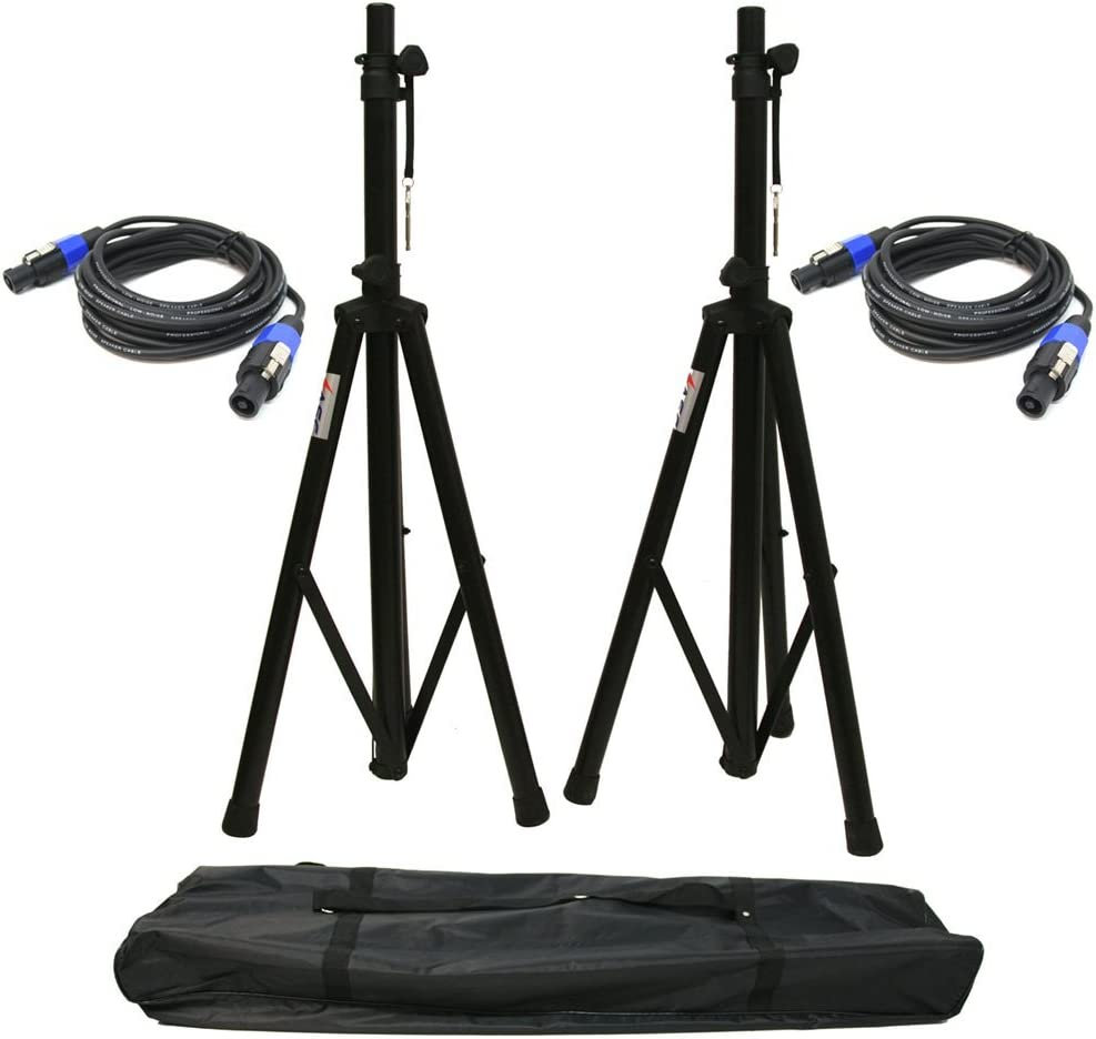 Ranking TOP15 ASC 2 Pro Audio Max 44% OFF Mobile DJ 6 Adjustable Speaker Stands PA Foot