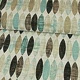 Dekostoff ovales Retro Muster Mint Canvasstoff - Preis Gilt