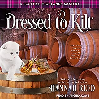 Dressed to Kilt     Scottish Highlands Mystery Series, Book 3              Written by:                                                                                                                                 Hannah Reed                               Narrated by:                                                                                                                                 Angela Dawe                      Length: 7 hrs and 12 mins     1 rating     Overall 5.0