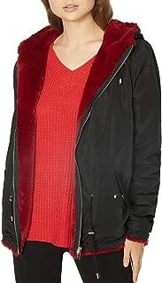 Sanctuary Womens Fur Snug Mini Parka Jacket