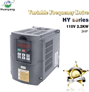 VFD 110V Input 2.2KW 3hp Variable Frequency CNC Drive Inverter Converter for 3 Phase Motor Speed Control (2.2KW, 110V)