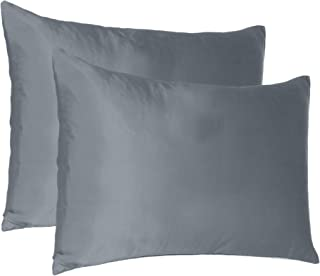 Oussum Soft Comfortable Pillowcase Silky Satin Silk Pillow Cover for Hair & Skin Home Decor (Steel Gray, Regular Size, 18X...