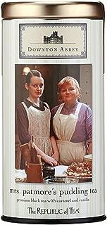 The Republic of Tea Downton Abbey Mrs. Patmore's Pudding Tea, 36 Tea Bags, Gourmet Caramel Vanilla Black Tea