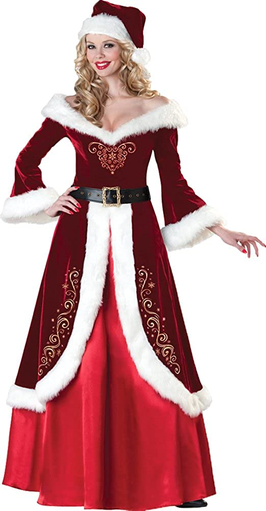 InCharacter Women's Rapid Limited time sale rise Mrs. St. Nick Costume Lady X-Lar Claus Santa