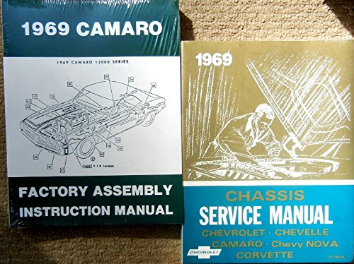 2 Pc SET OF THE 1969 CHEVROLET CAMARO FACTORY REPAIR SHOP & SERVICE MANUAL And ASSEMBLY MANUAL