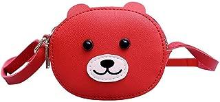 Animal Kid Girls Leather Handbag Shoulder Purse Mini Messenger Bags (Red)