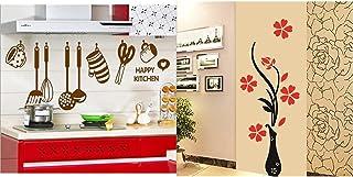 Decals Design StickersKart Wall Stickers Stylish Kitchen Art& 'Flowers with Vase' Wall Sticker