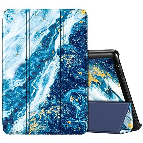 Fintie Hülle Kompatibel mit Das Neue Fire HD 10 und Fire HD 10 Plus Tablet (11. Generation, 2021) - Ultradünne Leichte Schutzhülle mit Auto Schlaf/Wach Funktion, Meeresblau