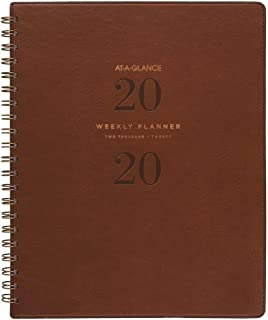 "AT-A-GLANCE 2020 Weekly & Monthly Planner, 8-1/2"" x 11"", Large, Signature, Brown (YP90509)"