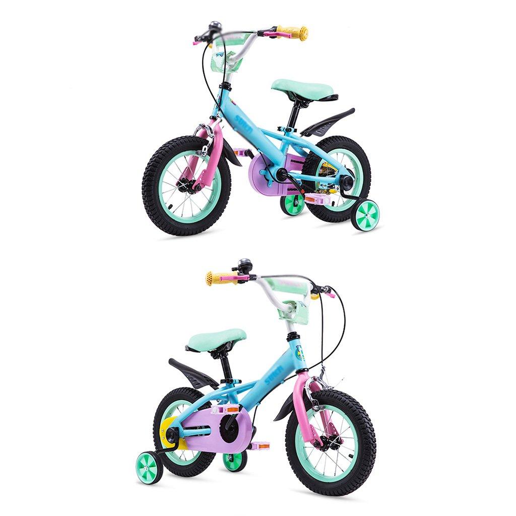 Bicicletas Bicicleta Infantil de Color 6-7-8-9-10 Años de Edad Bicicleta bebé de Niña 14/14/16 Pulgadas (Color : Blue, Size : 14 Inches): Amazon.es: Hogar
