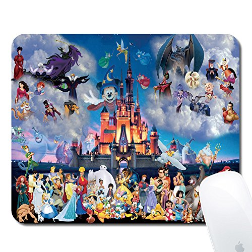 Onelee Disney All Characters Castle Rectangular Non-Slip Rubber Mouse Pad Gaming Mouse Pad