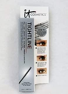 It Cosmetics Tightline Full Lash Length 3-in-1 Eyeliner, Mascara, and Primer Black 0.067oz/2ml Travel Size