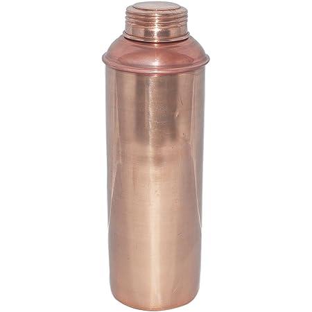 アーユルヴェーダの健康上の利点のための蓋付き純銅水ボトル