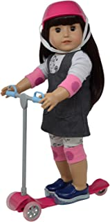"""The New York Doll Collection 18"""" Doll Scooter & Helmet Set - 18in Dolls Accessories Doll Bike Accessories Play Set and Dol..."""