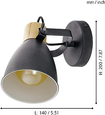 EGLO COSWARTH Lámpara de techo con focos, Antracita, crema-blanco, marrón