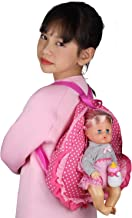 Huang Cheng Toys Doll Bag Carrier for 12-14-16 inch Doll American 18-inch Girl Portable Storage Bag Backpack