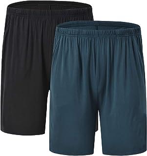 JINSHI Pantaloni Corti Pigiama da Uomo Morbide Modal Shorts da Salotto Biancheria da Notte